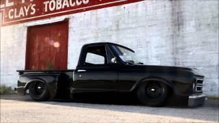 """getlinkyoutube.com-1967 Chevy Hot Rod Patina C10 Slammed on Ground!  """"Coaltrain"""",  For Sale"""