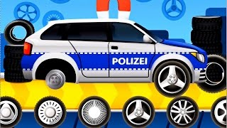 getlinkyoutube.com-Dream Cars Factory Police Car - Best iOS Game App for Kids