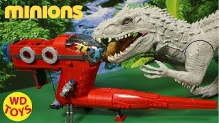 getlinkyoutube.com-New Minions  Supervillain Jet Mega Bloks vs the Indominus Rex Unboxing  Review WD Toys