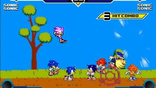 MUGEN - 4 On 4 Sonic Battle