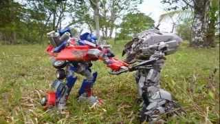 getlinkyoutube.com-Transformers ROTF: Forest battle  incomplete (Stop motions)