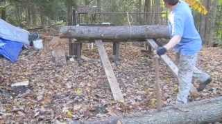 getlinkyoutube.com-Nauceder's Homemade Wood Processing Equipment