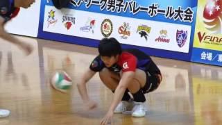 getlinkyoutube.com-20151121 suntory vs sakai focus on 柳田将洋 warming up