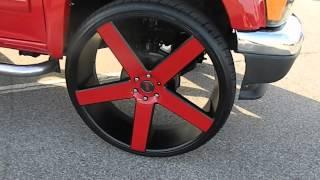 "getlinkyoutube.com-#WhipPaparazzi Red GMC Canyon on 30"" Dub Ballers"