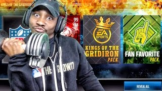 KINGS OF THE GRIDIRON & FAN FAVORITE PACK OPENING! Madden Mobile 17 Gameplay Ep. 30