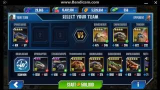 "getlinkyoutube.com-Jurassic World: The Game - ""Arena Showcase"" 12: Spinosaurus - Battle 1"