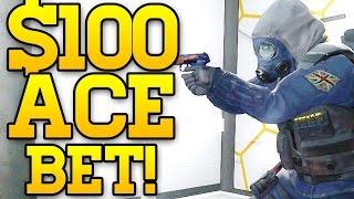 getlinkyoutube.com-$100 DOLLAR ACE BET! CS GO COMPETITIVE