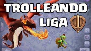 getlinkyoutube.com-TROLLEANDO CON TROPAS AL MÁXIMO EN LIGA DE BRONCE!!! - CLASH OF CLANS