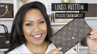 getlinkyoutube.com-Louis Vuitton FELICIE CHAIN WALLET + STRAP OPTIONS