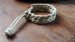 getlinkyoutube.com-Mad Max Style Double Rastaclat Bracelet - Twin Braid Single Strand Paracord Survival Bracelet