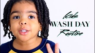 getlinkyoutube.com-KIDS NATURAL CURLY HAIR • WASH DAY ROUTINE • MASSAGING SHAMPOO BRUSH