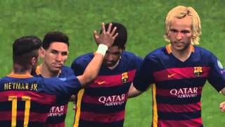getlinkyoutube.com-PES 2016 |PS4| Best goals Champions league Fc Barcelona|by: migud:v