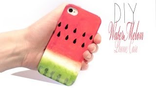 getlinkyoutube.com-Easy DIY Watermelon Phone Case!  SUPERCUTE and fruity ^___^
