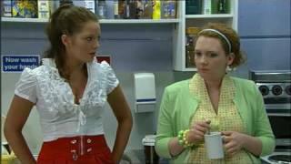 getlinkyoutube.com-Helen Flanagan - Red Miniskirt