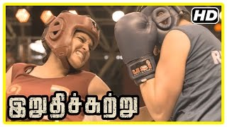 getlinkyoutube.com-Irudhi Suttru Tamil Movie | Climax Scene | Ritika wins the match and gives credit to Madhavan