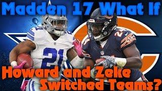 "getlinkyoutube.com-Madden 17 Franchise ""What If"" Ezekiel Elliott and Jordan Howard Switch Teams!?"