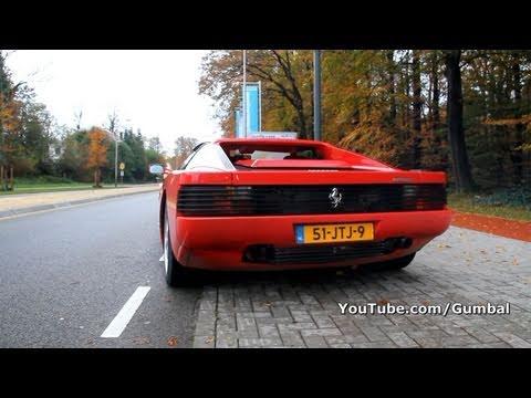 Ferrari Testarossa w/ Fuchs exhaust + race pipes! LOUD sound!! 1080p HD