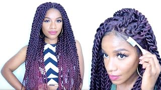 getlinkyoutube.com-How to Style Braided Lace Wig⎮Havana Twists⎮Senegalese Twist