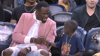 getlinkyoutube.com-Jarrius Robertson HILARIOUS Conversation with Draymond | Mic'd Up | 02.17.17
