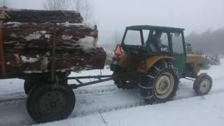 getlinkyoutube.com-Ursus C- 360 wyciąganie dłużycy z drzewem