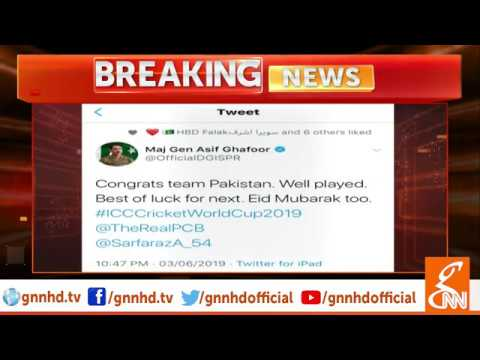 PM Khan and DG ISPR congratulate Pakistani team for success