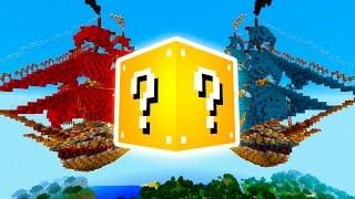 "getlinkyoutube.com-Minecraft ""RED VS BLUE SKY SHIP BATTLE!"" Lucky Block PVP w/ The Pack!"
