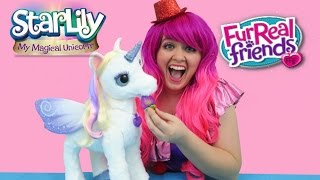 getlinkyoutube.com-FurReal Friends StarLily My Magical Unicorn | TOY REVIEW | KiMMi THE CLOWN