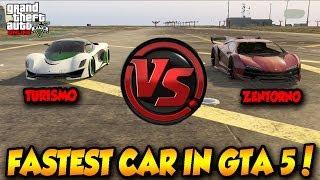 getlinkyoutube.com-GTA 5 ONLINE ZENTORNO VS TURISMO! FASTEST CAR IN GTA !! GTA 5 HIGHLIFE DLC!