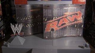 getlinkyoutube.com-Jeeper's Wrestling Figure Close-Ups: Monday Night RAW Entrance Stage - WWE/Mattel Review HD