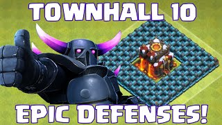 getlinkyoutube.com-Clash Of Clans EPIC Townhall 10 DEFENSIVE WINS | Perfect Clan War Clan Quest