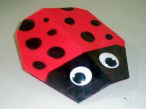 How to make a cute paper lady bug origami