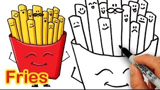 getlinkyoutube.com-How to Draw Cartoon Fries Cute and Easy