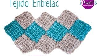 getlinkyoutube.com-Tutorial tejido Entrelac (rombos) a crochet paso a  paso