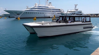 getlinkyoutube.com-Eclipse 3, the catamaran tender of superyacht Eclipse in action