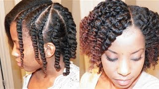getlinkyoutube.com-Flat Twist Out on Blown Out Natural Hair