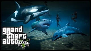 getlinkyoutube.com-GTA 5 - PLAY AS KILLER WHALE, SHARK, DOLPHIN & MORE! Peyote Locations Episode 4 (GTA 5 Xbox One PS4)