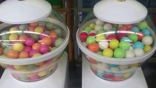 getlinkyoutube.com-ガムボールマシーン (๑・‿・๑) Gumball Machine ガチャガチャ ガム Gum Candy Machine