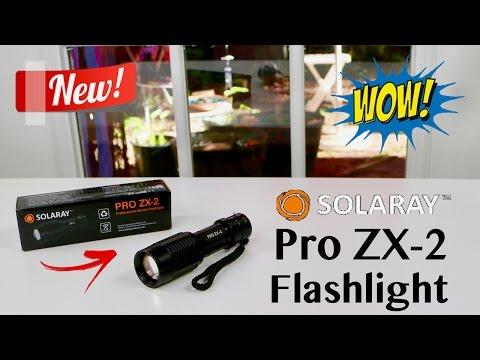 😍 SOLARAY Pro ZX-2 Professional Series Flashlight - Review  ✅