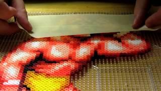getlinkyoutube.com-Perler bead masking tape method Part 1