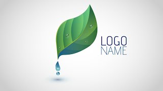 getlinkyoutube.com-Adobe Illustrator CC | Logo Design Tutorial (Leaf & Water Drop)