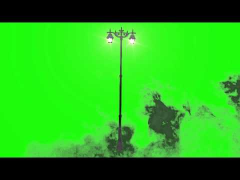 Street Light and Mist - Green Screen Animation Footage
