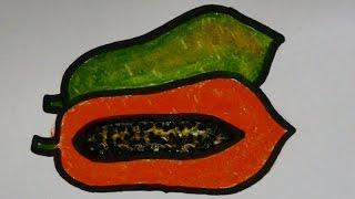 getlinkyoutube.com-cara menggambar buah pepaya