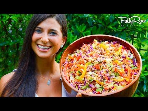 Rainbow Coleslaw with @FullyRaw Mayonnaise!