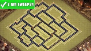 "getlinkyoutube.com-Clash Of Clans - ""BEST"" ANTI 3 STAR TOWN HALL 9 (TH9) WAR BASE W/ 2 Air Sweepers  + REPLAYS"