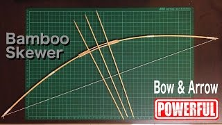 getlinkyoutube.com-How to make bow and arrow with Bamboo Skewer