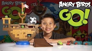 Angry Birds GO - PIRATE PIG Attack Spiel - Jenga Unboxing & Review