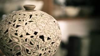 getlinkyoutube.com-الرسم على الخزف Peinture sur porcelaine