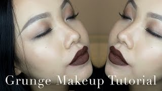 getlinkyoutube.com-Grunge Makeup Tutorial + 4 Lips Options | saranya