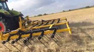 Claydon Straw Harrow 2014 on our OSR Stubbles