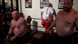 Two 1000lb Bench Pressers Workout - Scot Mendelson & Dave Hoff